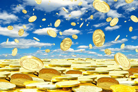 It is unrealistic to expect gold coins to fall from the sky when seeking increase through the Law Of Attraction.