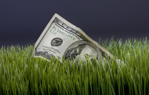 You can imagine the great feeling a person would have if the found $100 bill in the grass.