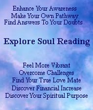 Enhance your Law Of Attraction vibration with a personalized soul reading.