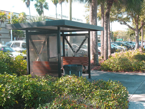 Day 2 of the Law of Attraction using my Leave 1 Dollar method. This bus stop was the perfect place.