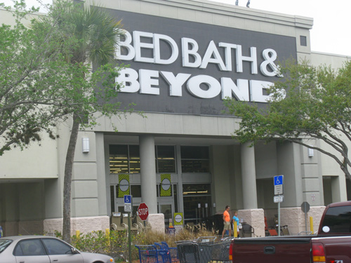 I chose to leave one dollar at Bed Bath and Beyond.
