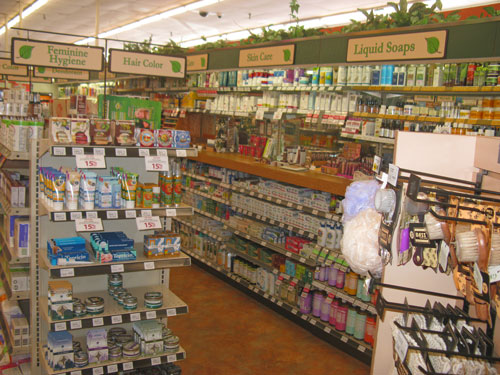 Inside the health food store. A great place to leave 1 dollar.