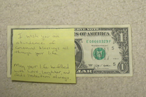 Preparing your dollar is easy with Post-It notes.